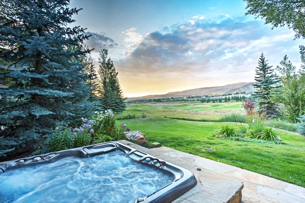 This home boasts 2,500 square feet of open living space, along with a fantastic outdoor space with a private hot tub.