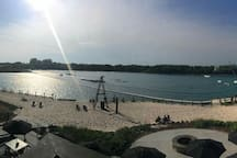 Quarry Wake board Park, minutes from our place.