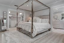 Master Bedroom with full private bathroom.