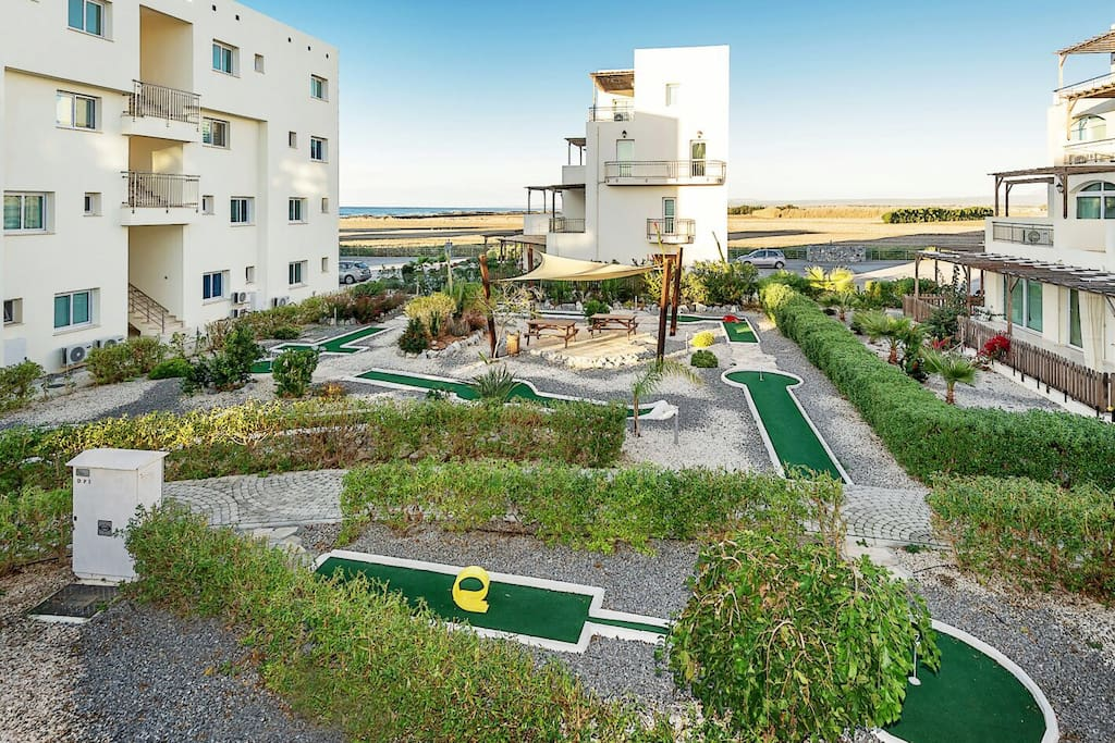 Mini-golf  facility near the apartment