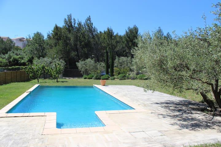 Loft situé dans un jardin arboré de vieux oliviers - Aramon - Villa