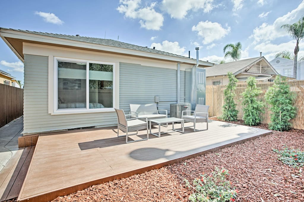 The property features a lovely back deck and fenced-in yard.