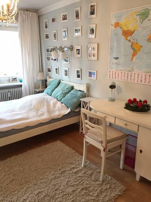 Zimmer 1; Doppelbett 140 x 200