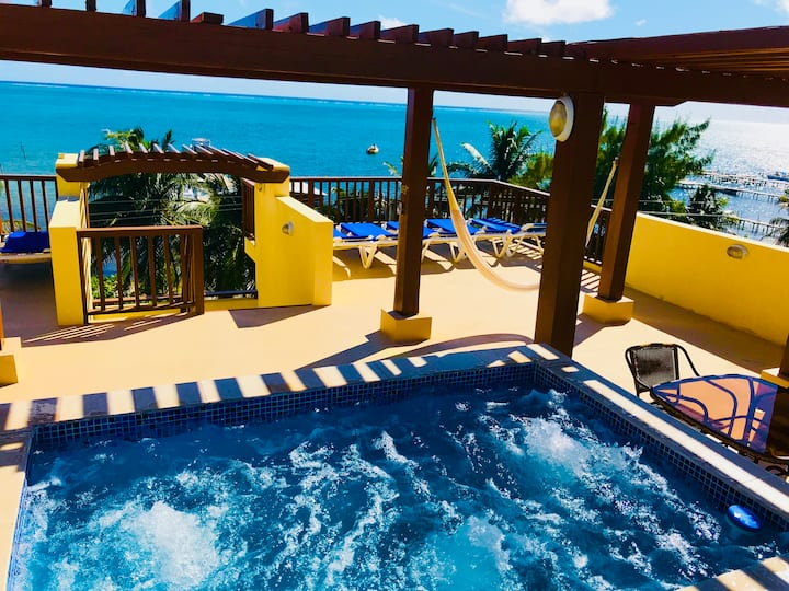 Caye Reef 2 bedroom 2nd floor oceanfront villa
