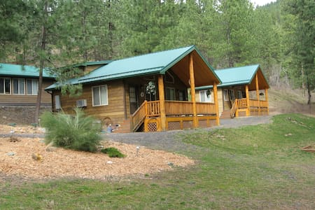 Lone Star Texas Cabin at the High Country Inn - Ahsahka - Kabin