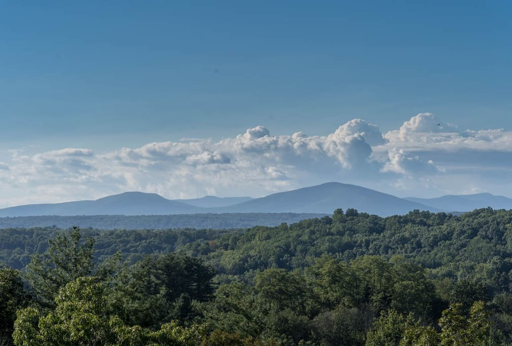 View of the Catskills from the West-facing deck.