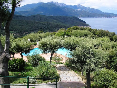 Breezy flat with pool Elba