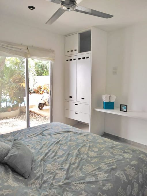 What about a swim in the morning, easy access to the pool, closet and clean towels always