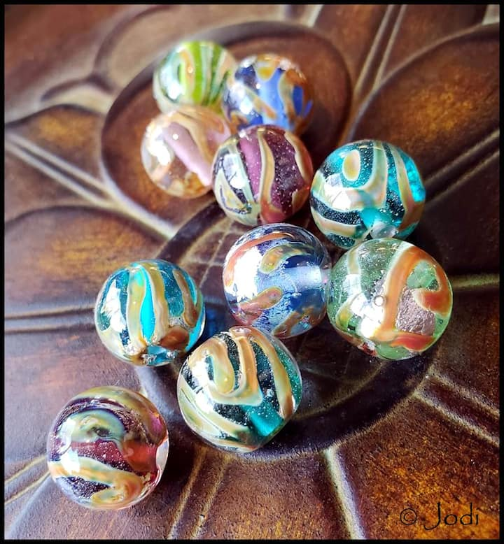 Hand torched beads