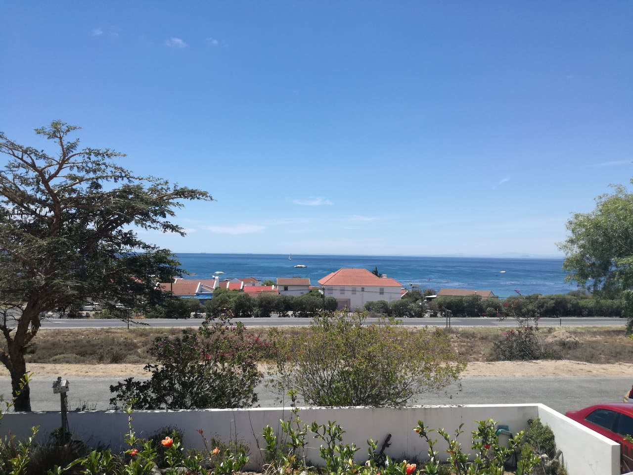 The view over St Helena Bay from the stoep where you could enjoy your morning coffee or have a braai