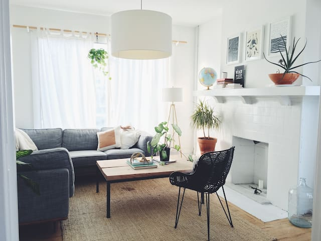 Sun-filled, locally-designed 2 bedroom apartment