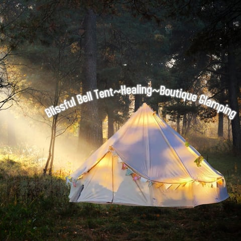 Blissful Bell Tent~Boutique Glamping with horses