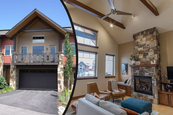 NEW! Luxury End Unit - 5 Min To Mountain & Town!