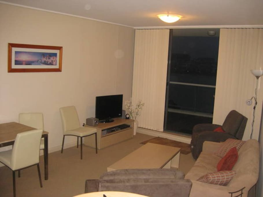 Positioned between the 2 bedrooms for better privacy and opens onto balcony