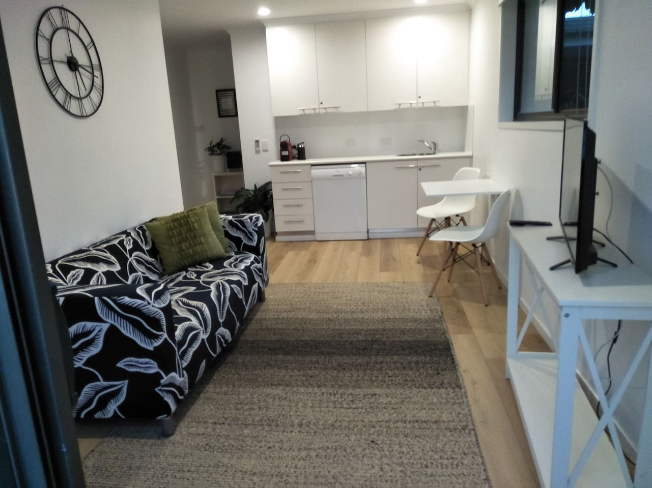 Your open plan living area with own entry