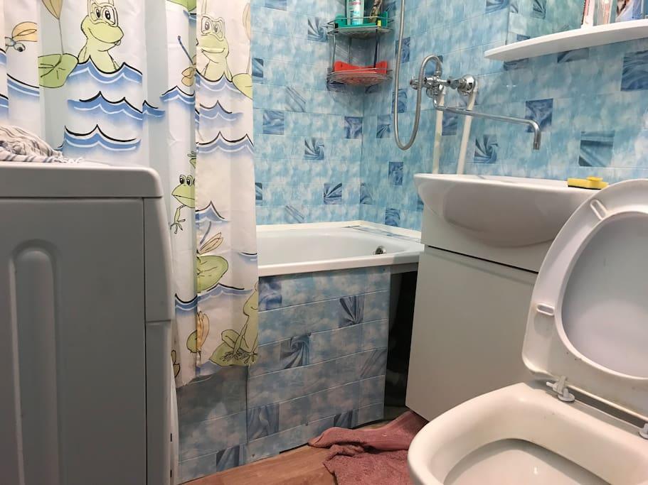 Ванна со стиральной машиной