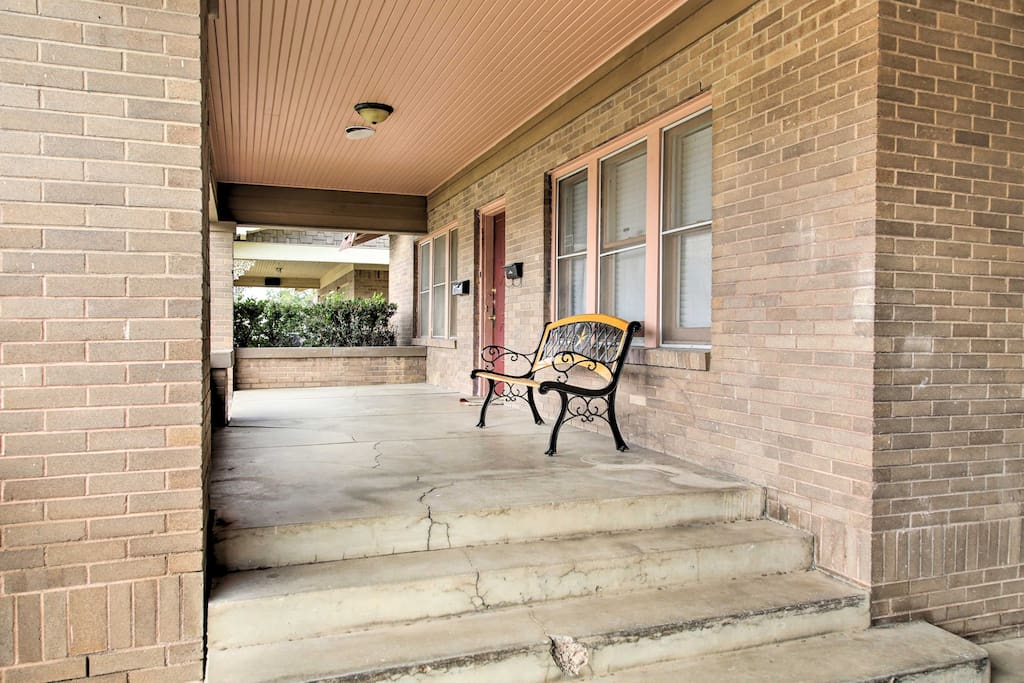 Unwind on the covered front porch.