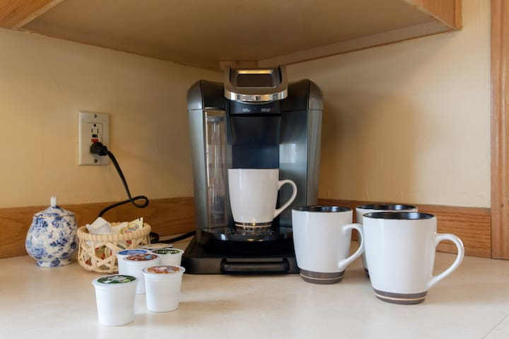 Your own Keurig machine for morning or evening coffee