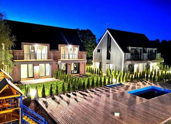 Apartamentų nuoma Kunigiškiuose su lauko baseinu