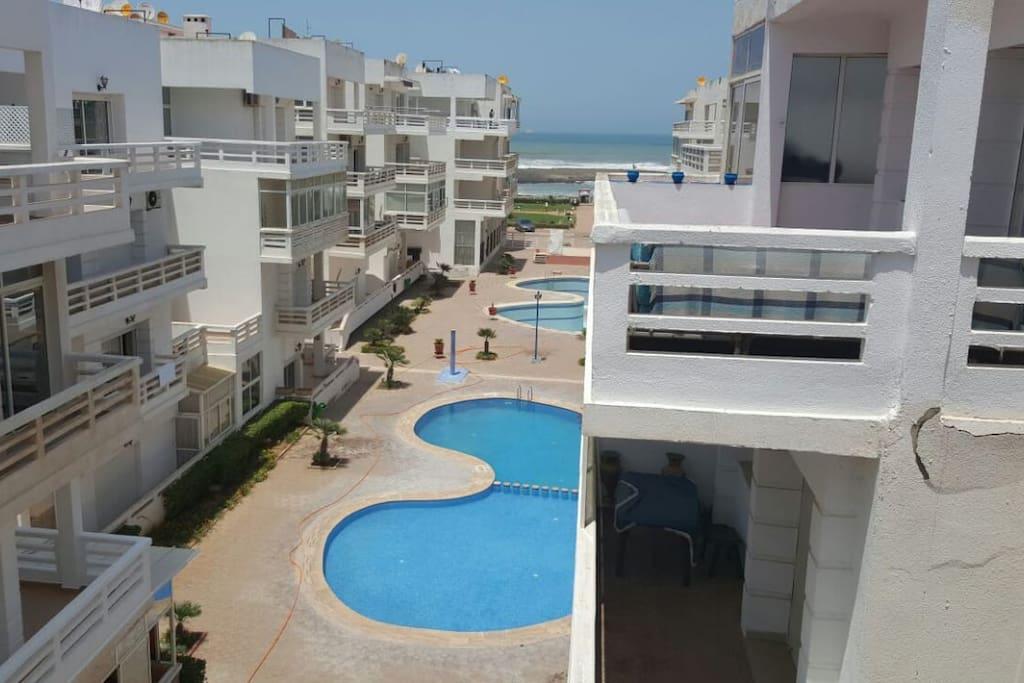 Accés à 5 piscines au sein de la résidence + accés direct à la plage
