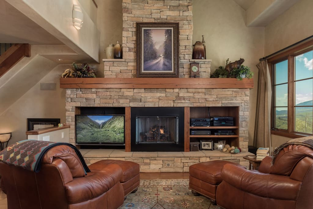 Gas Fireplace and comfortable living space