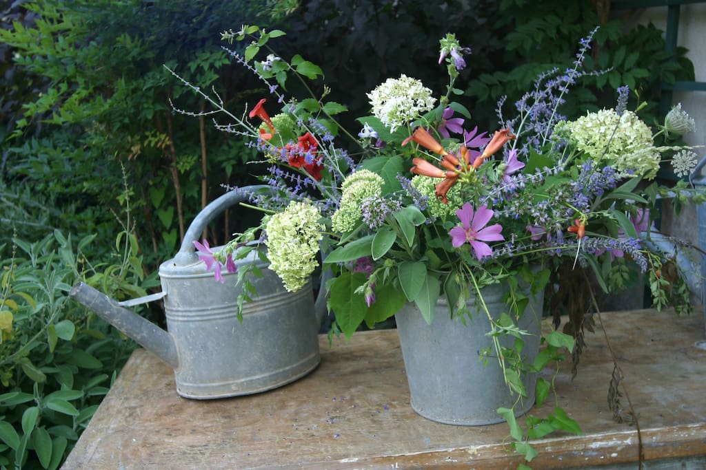 Verse bloemen uit de tuin