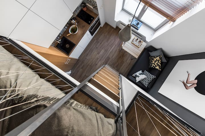 Brand new designer mini Loft in Vilnius center - Vilnius - Lägenhet