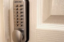 Codes on every room door for added safety & privacy.