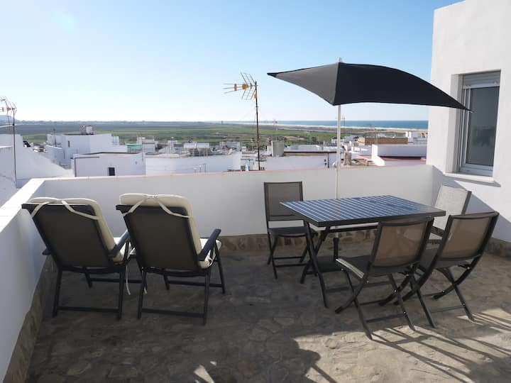 Andalusian townhouse with sea view
