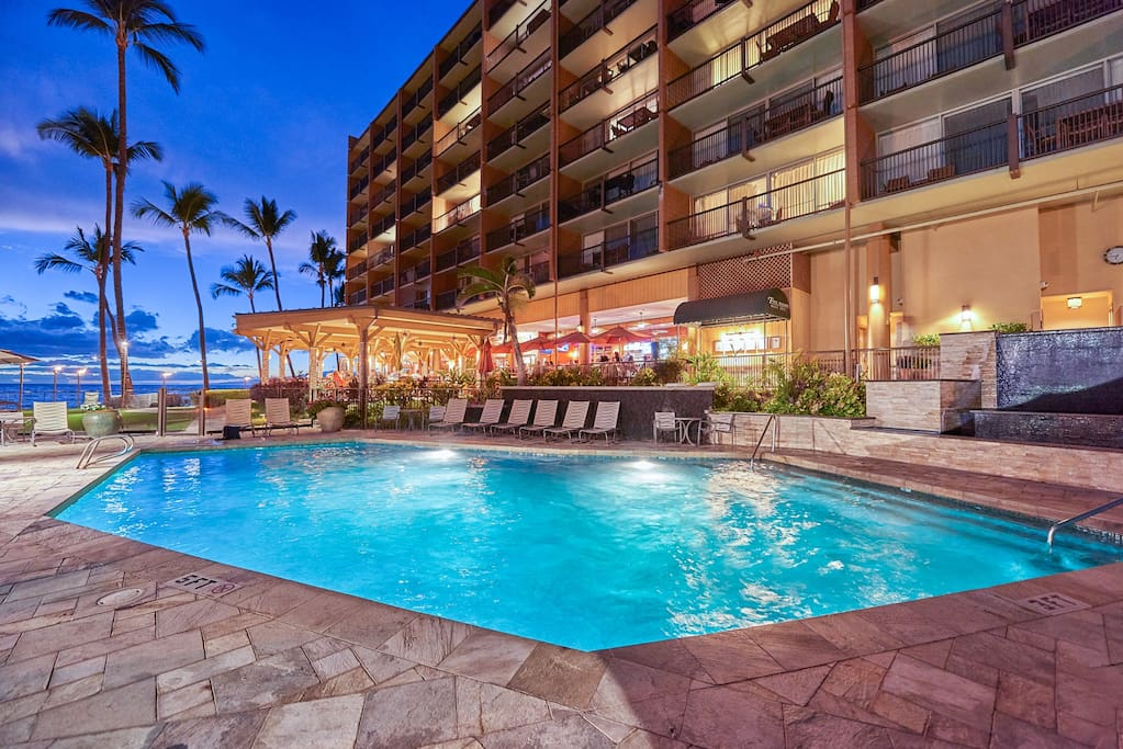 The beachfront pool is just steps from your 2nd-floor condo.