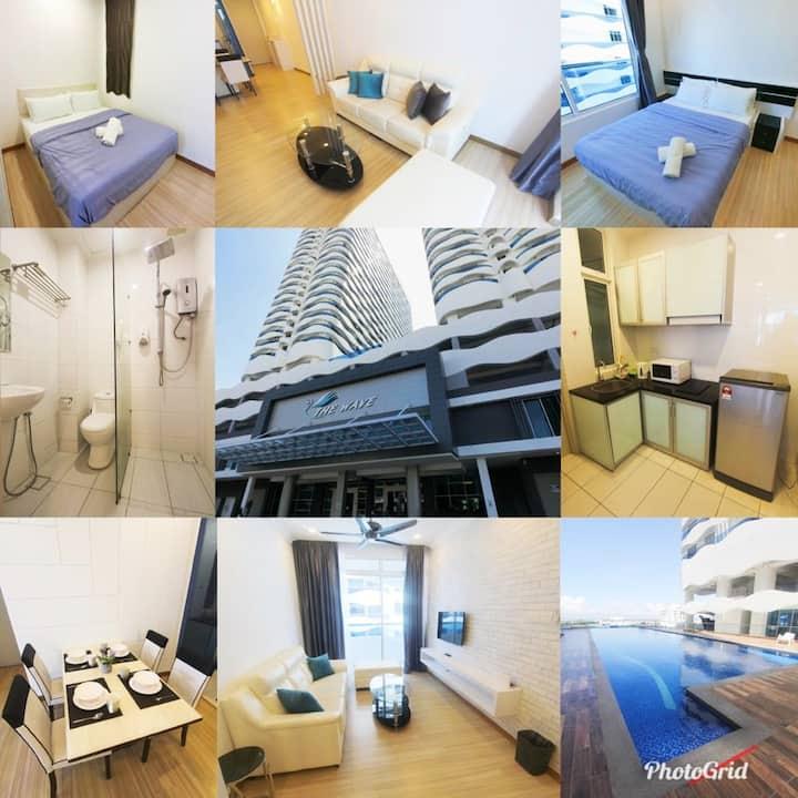 Cozy Home@The Wave Melaka/Infinity pool/nr2 Jonker