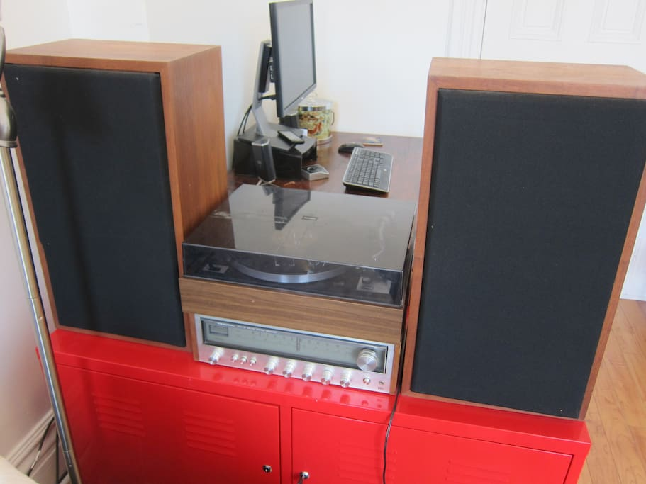 Feel free to make use of the record player (complete with records!)