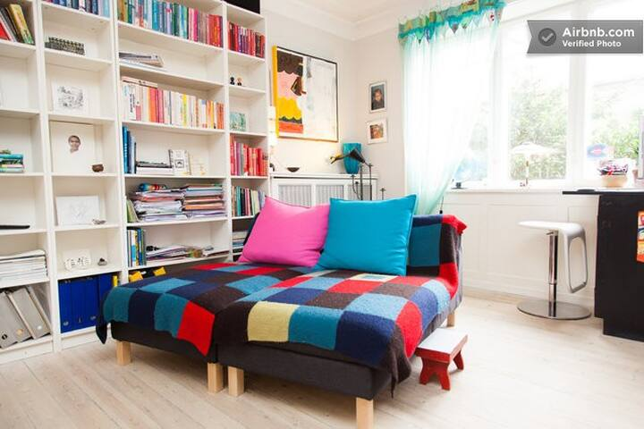 cozy orange room near Copenhagen - Gentofte - Apartment