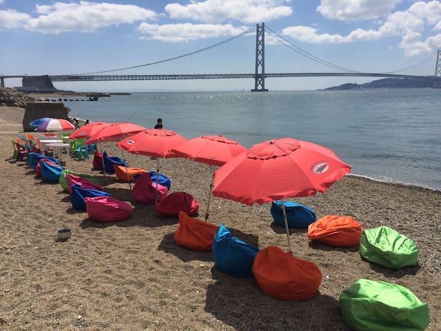 目の前がプライベートビーチ!private beach! - Kobe - Jiné