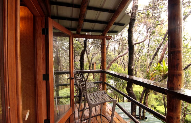 upper lanai with view across the rainforest canopy