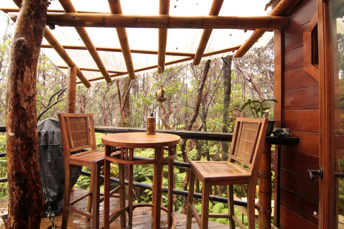 Hawaii Rental Treehouse at Kilauea Volcano