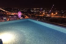 facing i city from pool