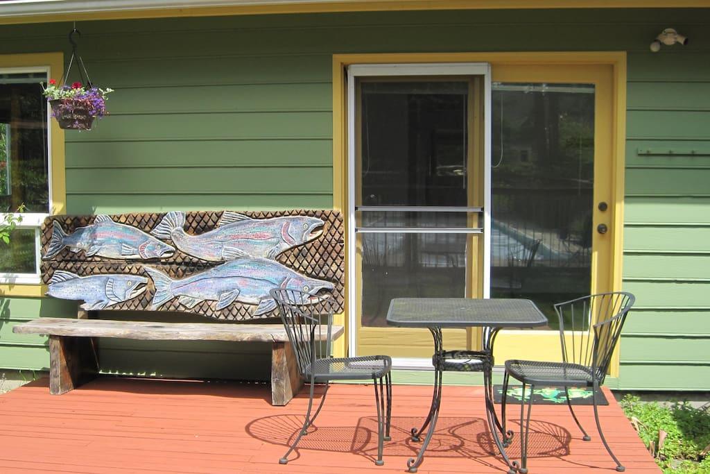 Sunny south-facing deck
