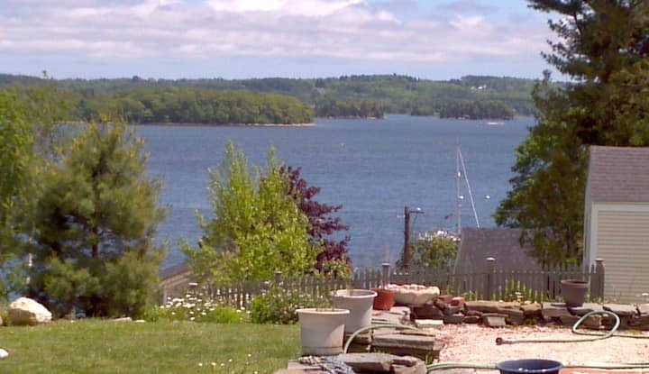 In town Castine with water views