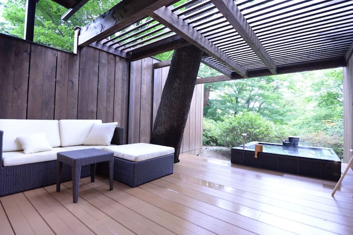 Hakone, 2 pax★Private outdoor bath+Breakfast&Dinner★A Relaxing Vacation at a Japanse traditional Ryokan