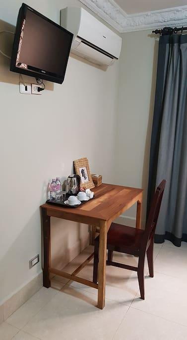 Natural wooden work desk