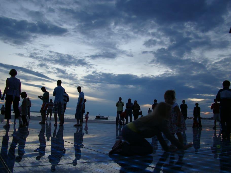 Greet the sun ..  Zadar Riva