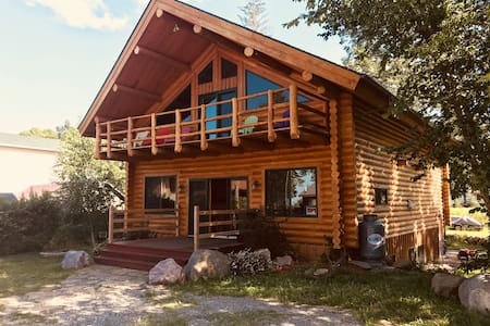Huge Log Cabin at Leech Lake.. sleeps 12+!