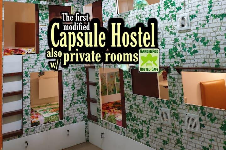 GardenPod Hostel + Cafe Capsule