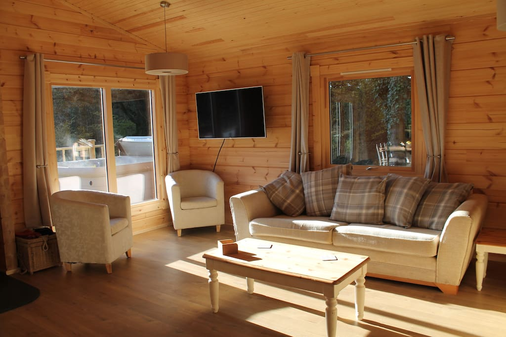 Sun-filled open-plan living room