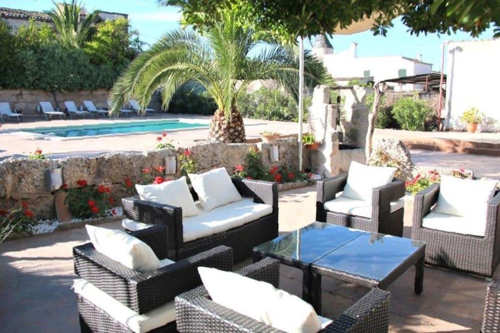 The chill out zone of Villa Sa Barcella