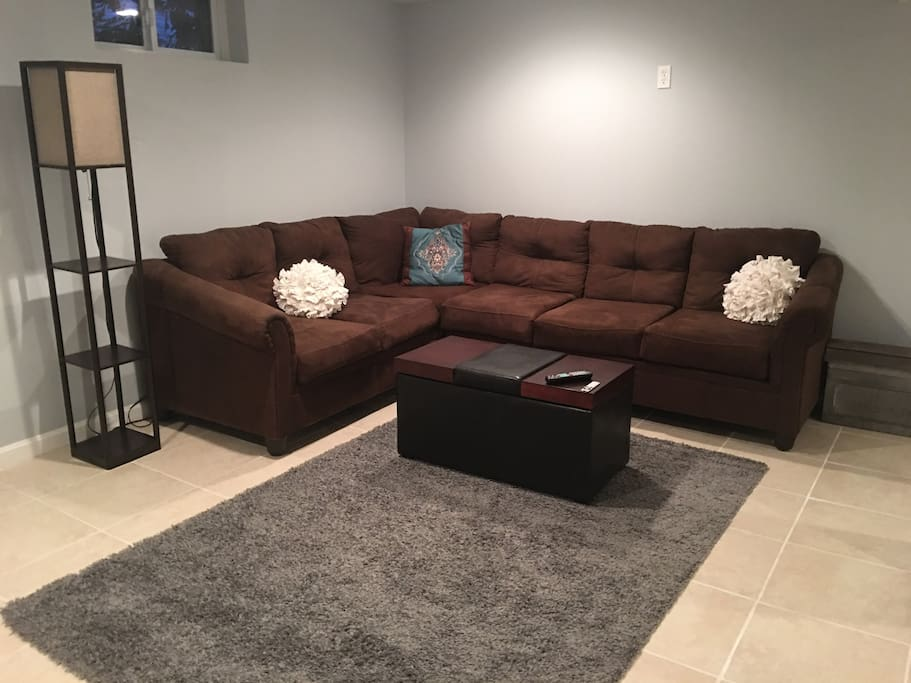Comfy sofa, Many have slept here as well if you have more that 2 guests they can sleep here. We also have a twin bed available upon request.