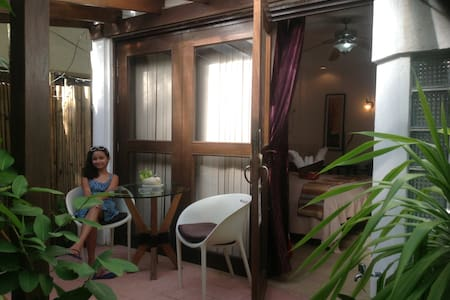 A Deluxe Aircon Room in a Resort - Malay