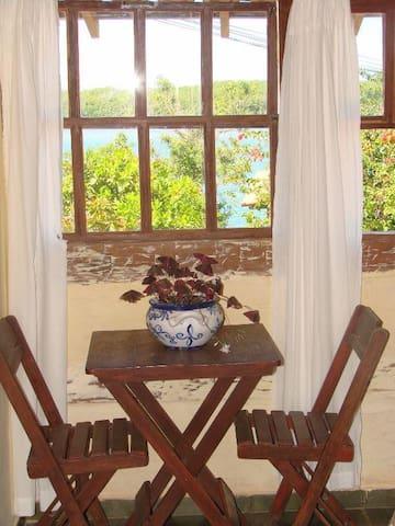 Vista da suite para o rio João de Tiba