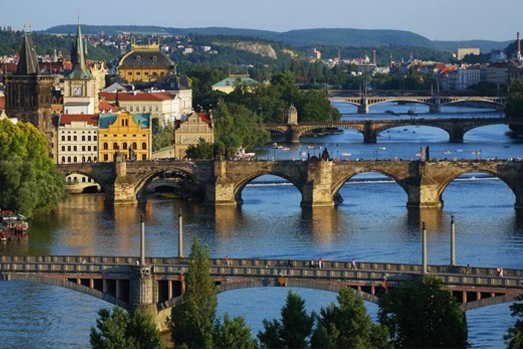 Prague in the summer